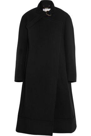 CHLOÉ Oversized wool and angora-blend felt coat