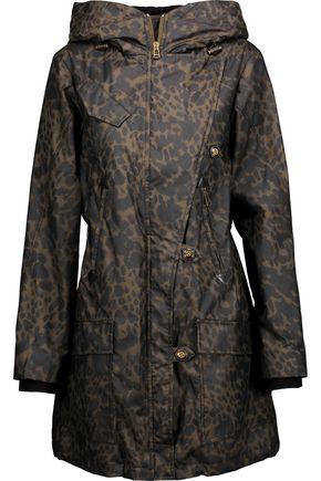 BELSTAFF Habledon leopard-print coated cotton-shell hooded coat