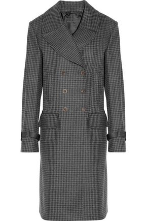 BELSTAFF Milburn double-breasted houndstooth wool-blend coat