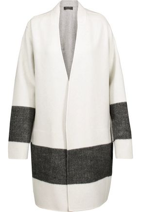 WOMAN ELGIN REVERSIBLE PANELED WOOL-BLEND FELT COAT IVORY