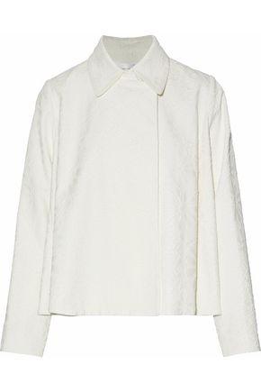 VICTORIA, VICTORIA BECKHAM Cotton-blend cloqué jacket