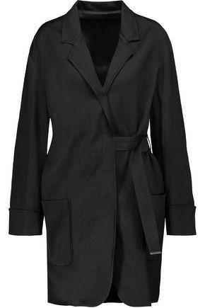 ACNE STUDIOS Bariah tie-front crinkled-satin coat