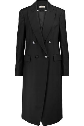 TEMPERLEY LONDON Stitch-trimmed wool-blend coat