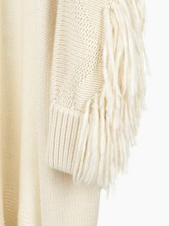 Fringed knit coat