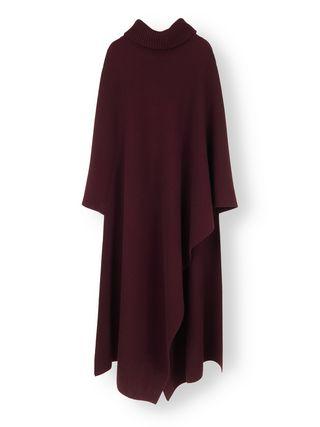 Turtleneck blanket cape
