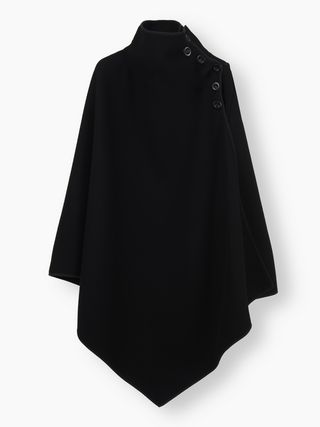 High-neck cape