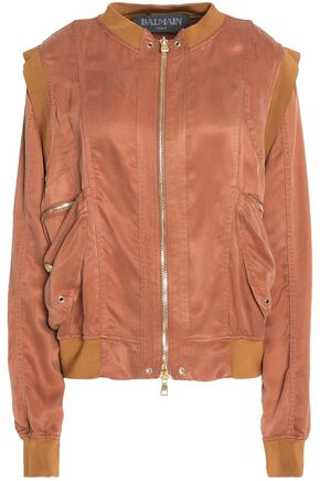 BALMAIN Two-tone satin jacket