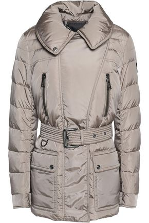 BELSTAFF Rosedale belted quilted shell down jacket