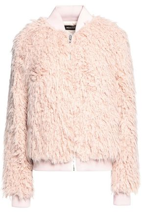LOVE MOSCHINO Faux shearling coat