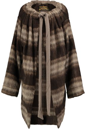 VIVIENNE WESTWOOD ANGLOMANIA Brushed knitted coat