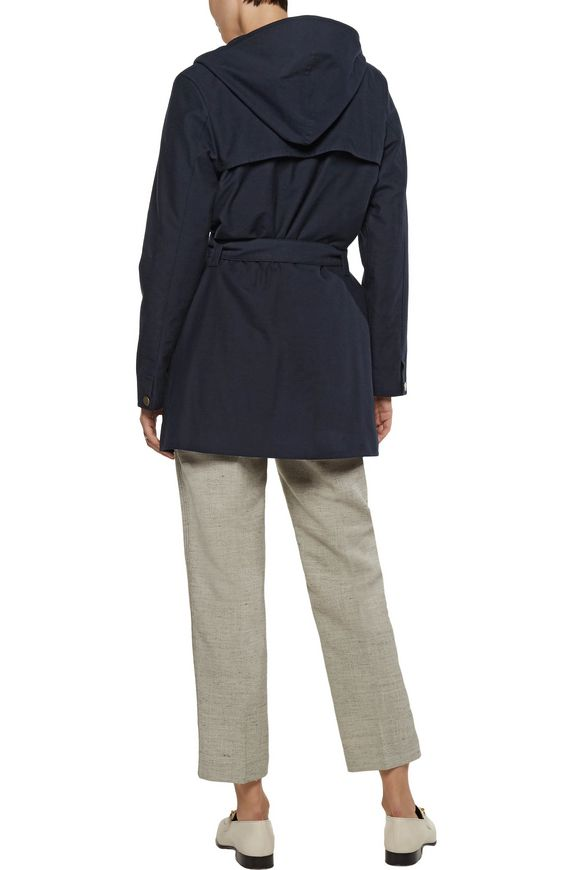Belted cotton and wool-blend hooded coat | A.P.C. | Sale up to 70% off |  THE OUTNET