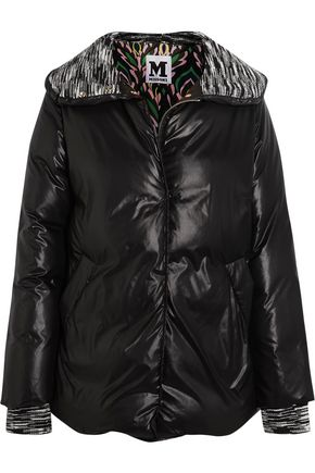 M MISSONI Wool-trimmed quilted shell jacket