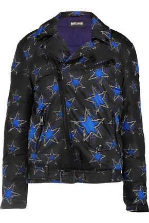 JUST CAVALLI Printed padded shell down jacket