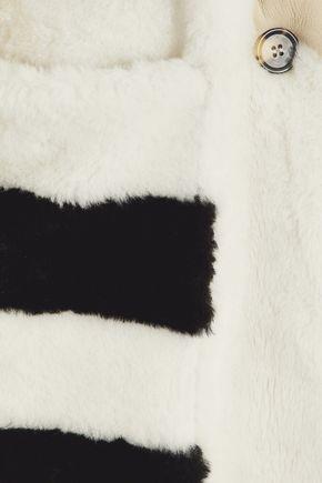 MAX MARA Paneled color-block shearling coat