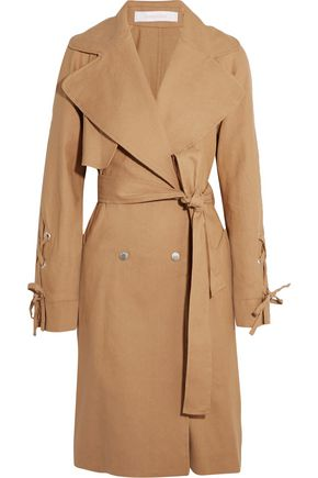 SEE BY CHLOÉ Linen and cotton-blend trench coat