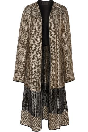 HAIDER ACKERMANN Terry-paneled metallic jacquard coat