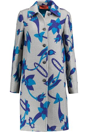 MISSONI Printed wool-blend coat