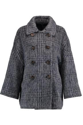 BRUNELLO CUCINELLI Wool and alpaca-blend jacquard coat