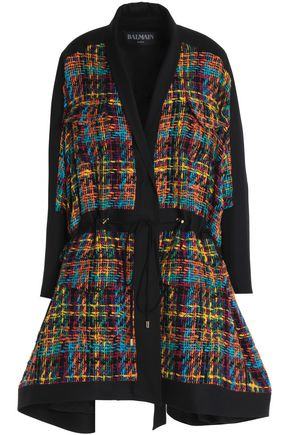 BALMAIN Belted tweed cape