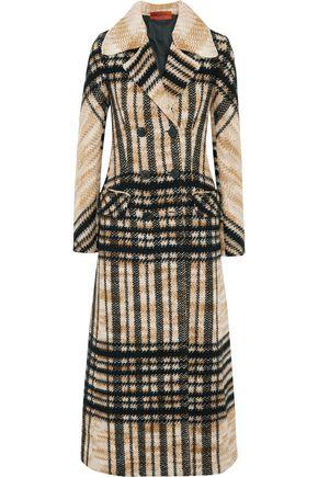 MISSONI Checked wool-blend coat