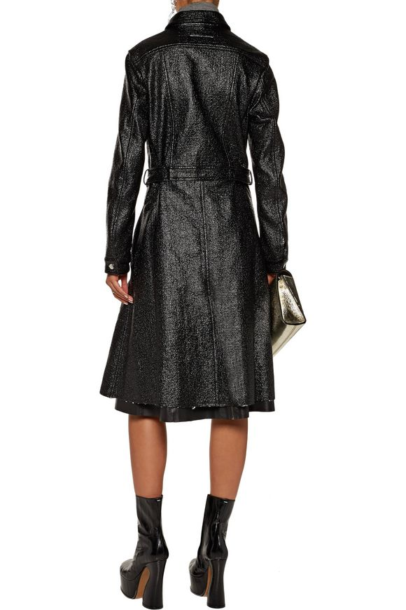Coated faux leather trench coat   MM6 MAISON MARGIELA   Sale up to 70% off    THE OUTNET