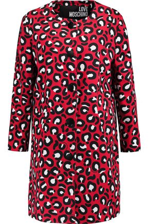 LOVE MOSCHINO Printed cotton-blend canvas coat