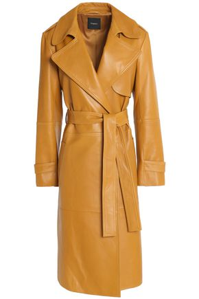 THEORY Belted suede trench coat