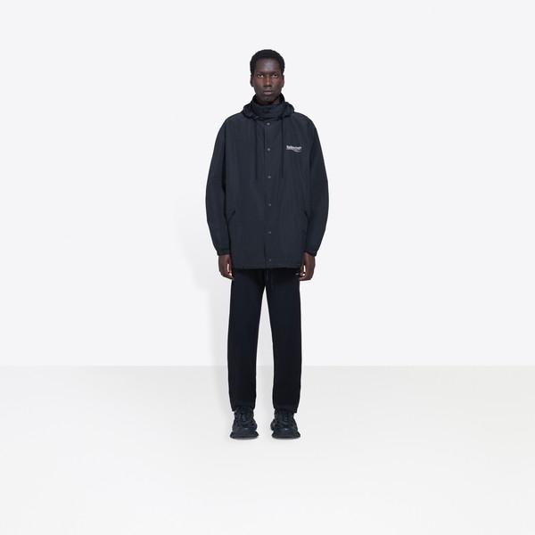 BALENCIAGA Coats U Archetype Printed Raincoat g