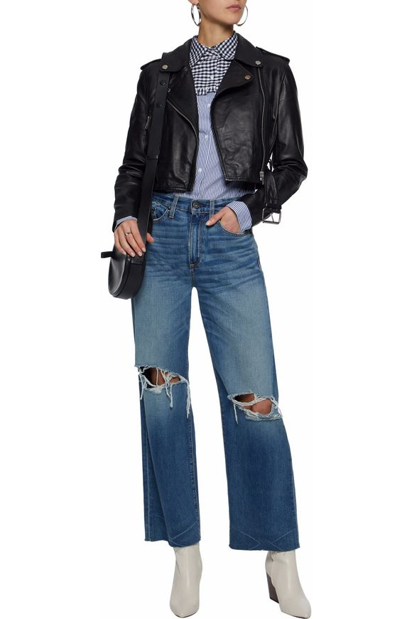 Shirley leather biker jacket | W118 by WALTER BAKER | Sale up to 70% off |  THE OUTNET