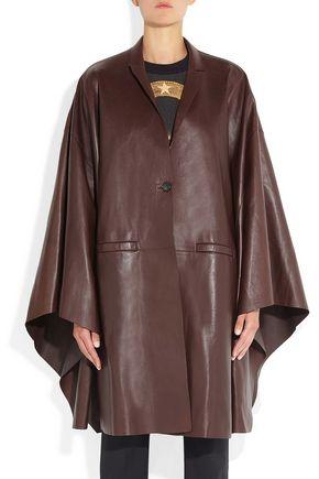 GIVENCHY Bordeaux leather cape