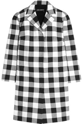 DOLCE & GABBANA Gingham cotton coat