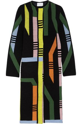 PETER PILOTTO Track ribbed stretch wool-blend coat