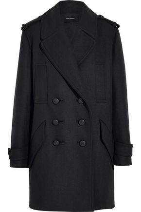 ISABEL MARANT Karly oversized double-breasted wool-blend coat
