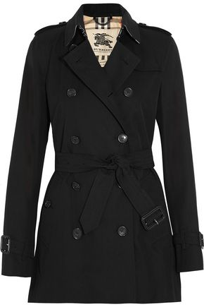 BURBERRY The Kensington Short cotton-gabardine trench coat