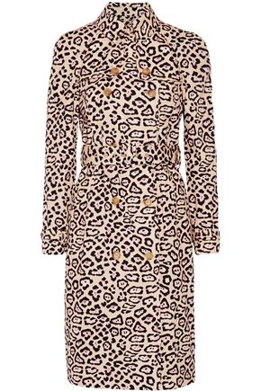 GIVENCHY Leopard-print cotton trench coat
