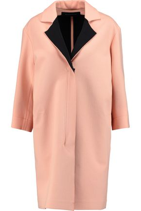 ROLAND MOURET Paddington two-tone wool-crepe coat