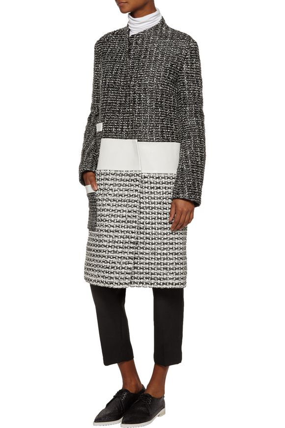 Asymmetric woven leather coat   PROENZA SCHOULER   Sale up to 70% off   THE  OUTNET