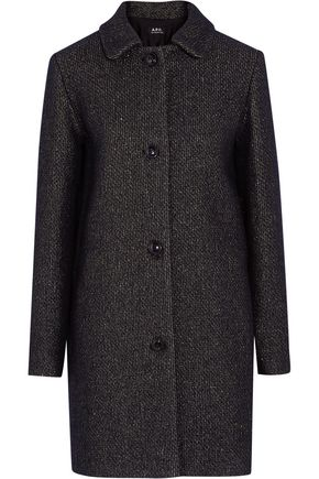 A.P.C. Rooney metallic wool-blend coat