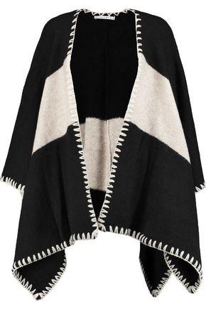 ALICE + OLIVIA Kamala two-tone knitted cape