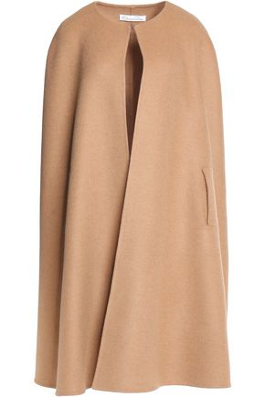 OSCAR DE LA RENTA Camel hair and wool-blend cape