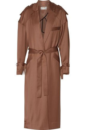ZIMMERMANN Lavish wool crepe de chine trench coat