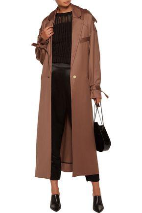ZIMMERMANN Lavish wool crepe de chine trench coat