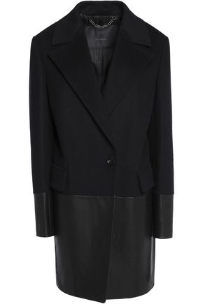 BELSTAFF Benmore wool-blend and leather coat