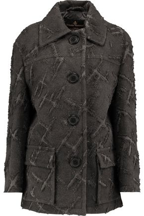 VIVIENNE WESTWOOD ANGLOMANIA Oversized flocked twill coat