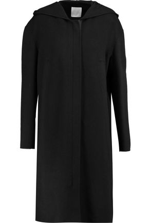 DKNY PURE Wool-blend hooded coat