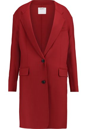 DKNY Woven stretch-wool coat