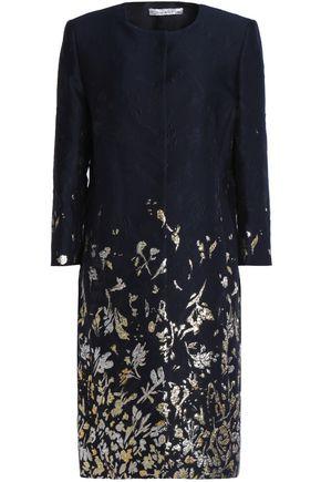 OSCAR DE LA RENTA Metallic cotton-blend jacquard coat