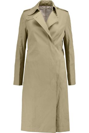 HELMUT LANG Cotton and linen-blend twill trench coat