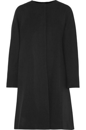 MILLY Elodie pleated wool-blend coat