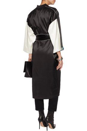 OPENING CEREMONY Reversible two-tone printed silk kimono